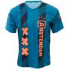 Voetbalshirt 'Amsterdam uit groen en oranje bedrukken' voorkant