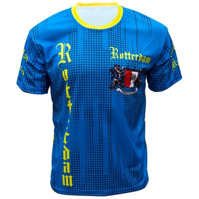 Voetbalshirt 'Rotterdam uit blauw en geel' bedrukken