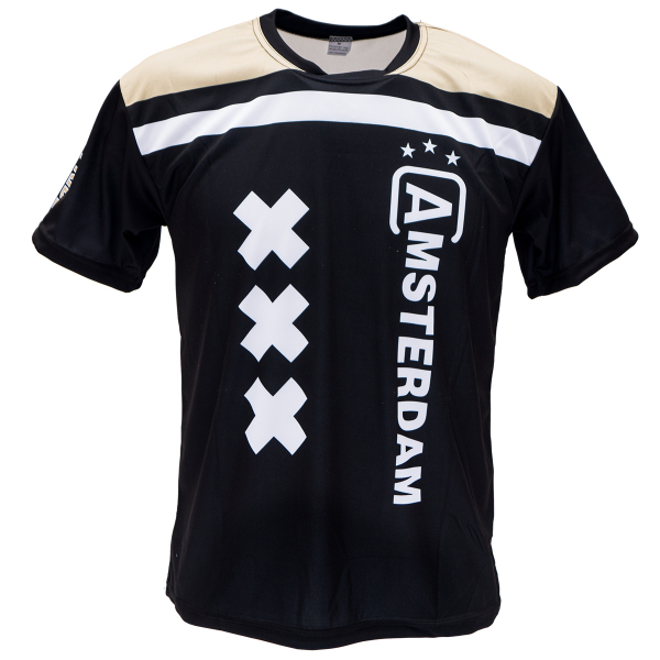 Voetbalshirt bedrukken 'Amsterdam uit' voorkant
