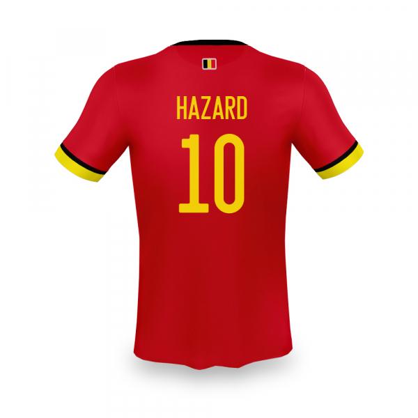 België thuis fan voetbalshirt Hazard senior
