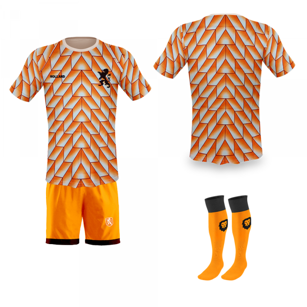 Nederland fan voetbaltenue Champions 1988 oranje bedrukken