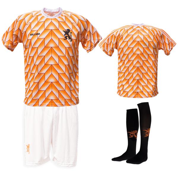 Nederland fan voetbaltenue Champions 1988 wit-zwart