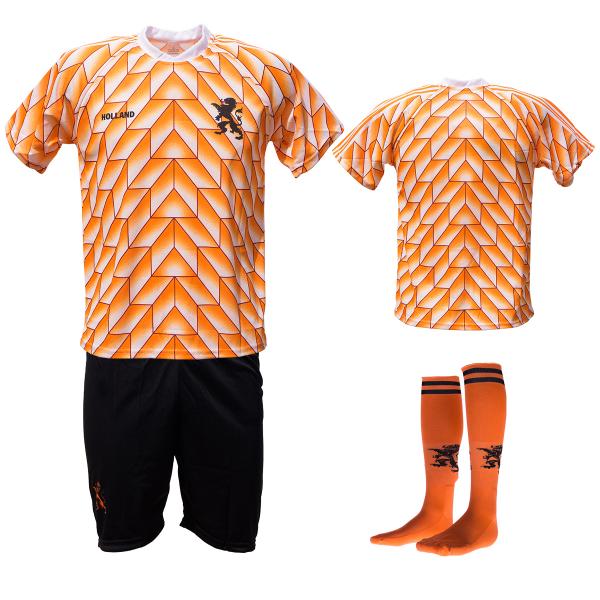 Nederland fan voetbaltenue Champions 1988 zwart-oranje bedrukken