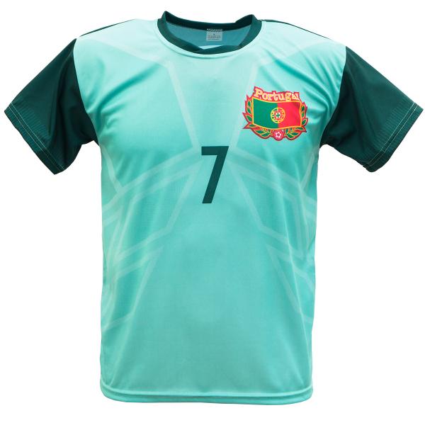Portugal uit fan voetbalshirt Ronaldo champions