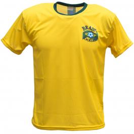 Brazilië thuis fan voetbalshirt bedrukken