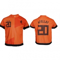 Nederland thuis fan voetbalshirt Afellay