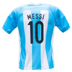 Argentinië thuis fan voetbalshirt Messi achterkant