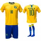 Brazilië thuis fan voetbaltenue Neymar